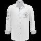 Trachtenhemd wit met grijs borduursel