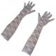 Handschoen Lang Kant Wit 43 cm.