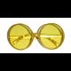 Bril rond goud met glitters