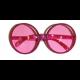Bril rond roze met glitters