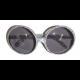 Bril rond zilver met glitters