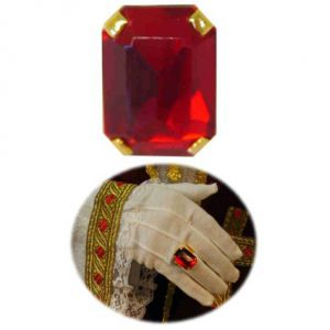 Ring Sinterklaas Rechthoekige rode robijn