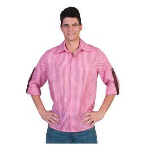 Blouse Geruit Roze/Wit