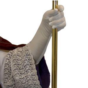 Handschoen Wit  maat L 40 cm.