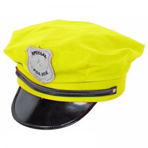 Politie Pet Neon Geel
