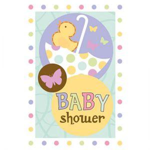 Uitnodigingen Baby Shower (8 stuks)