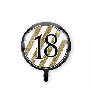 Folieballon Black & Gold 18 jaar