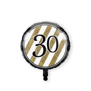 Folieballon Black & Gold 30 jaar