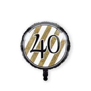 Folieballon Black & Gold 40 jaar