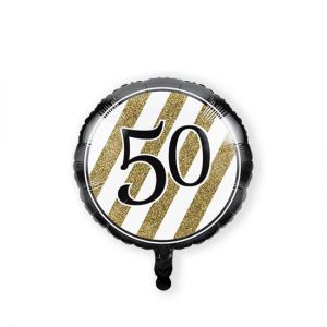 Folieballon Black & Gold 50 jaar