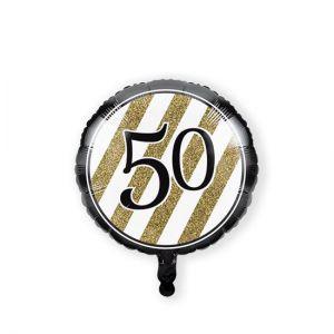 Folieballon Black & Gold 50 jaar