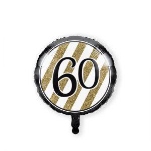 Folieballon Black & Gold 60 jaar