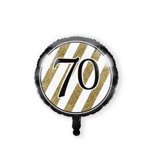 Folieballon Black & Gold 70 jaar