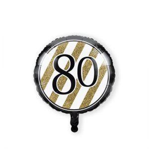 Folieballon Black & Gold 80 jaar