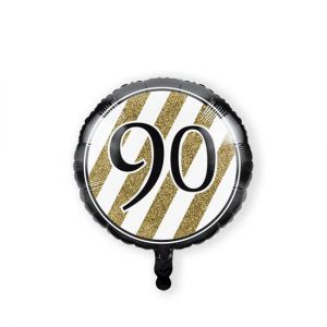 Folieballon Black & Gold 90 jaar