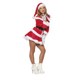 Kerstvrouw deluxe fluweel