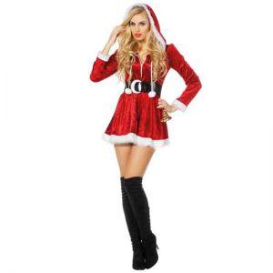 Kerstvrouw kort jurkje
