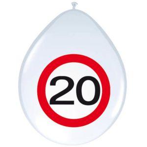 Verkeersbord Ballonnen 20 jaar