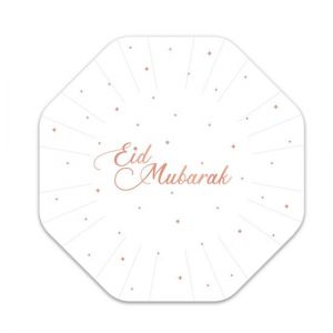 Bordjes Eid Mubarak sterretjes