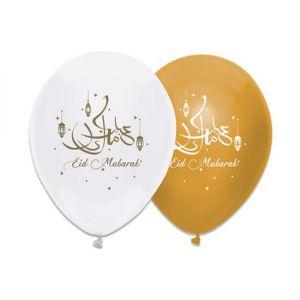 Latex Ballonnen Eid Mubarak Roze Goud / Wit