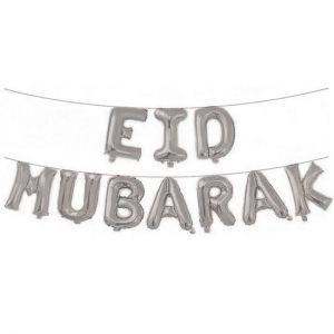 Folieballonnen set Eid Mubarak Roze Goud