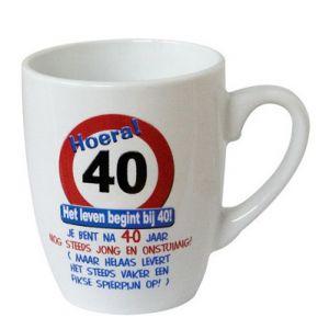 Leeftijd Mok Verkeersbord 40 jaar