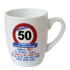 Leeftijd Mok Verkeersbord 50 jaar
