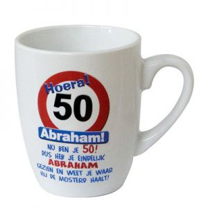 Leeftijd Mok Verkeersbord 50 jaar Abraham