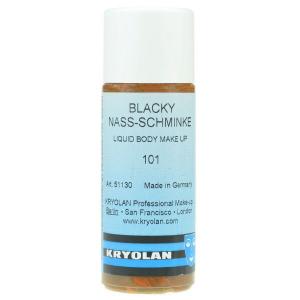 Kryolan blacky vloeibaar watervast 101 donkerbruin 50ml