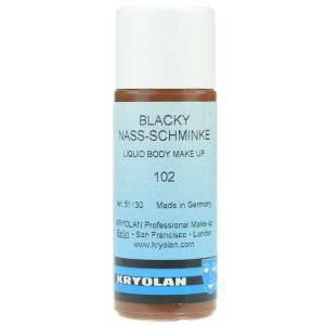 Kryolan blacky vloeibaar watervast 102 zwartbruin 50 ml