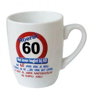Leeftijd Mok Verkeersbord 60 jaar