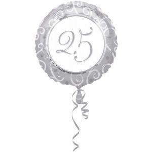 Folieballon Zilver 25 jaar