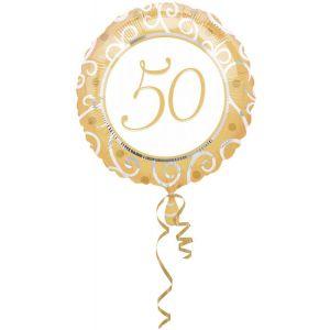 Folieballon Goud 50 jaar