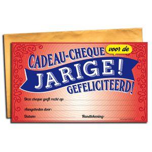 Cadeau Cheque Jarige Gefeliciteerd