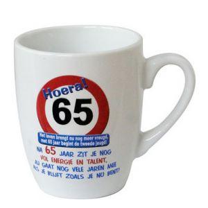 Leeftijd Mok Verkeersbord 65 jaar
