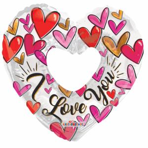 Folieballon Love Rose Goud