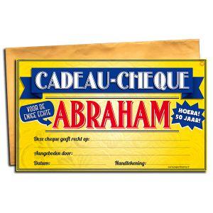 Cadeau Cheque Abraham 50 jaar