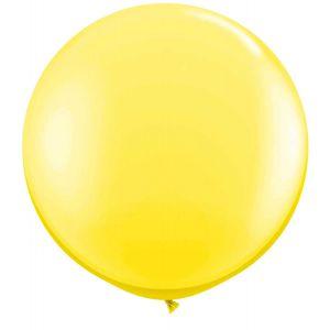 Latex Ballon Geel 90cm, 3ft