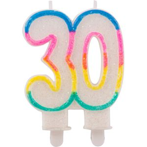 Kaarsje Glitter 30