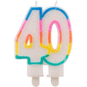 Kaarsje Glitter 40