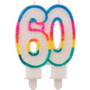 Kaarsje glitter 60