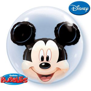 Folieballon double bubbles Mickey Mouse