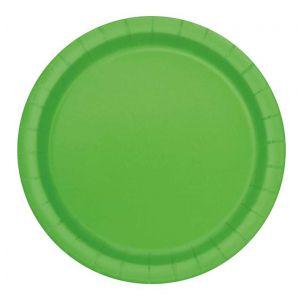 Bordjes Lime Groen 22 cm. 16 stuks
