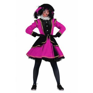 Pieten kostuum Madrid Zwart-Roze