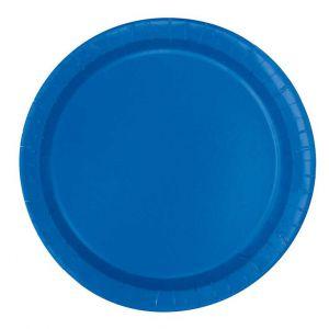 Bordjes Royal Blauw 18 cm 20 stuks