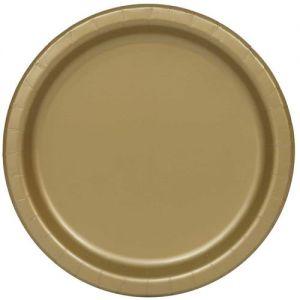 Bordjes Goud 18 cm. 8 stuks