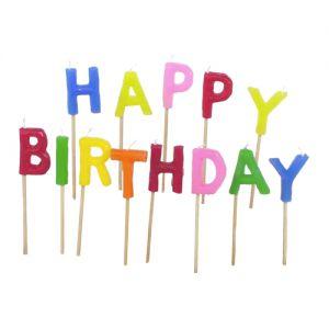Taartkaarsjes Happy Birthday