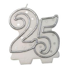 Kaarsje zilver 25
