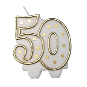 Kaarsje goud 50