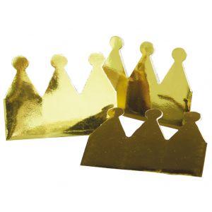 Kroontje goud metallic (6 stuks)
